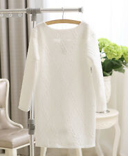 Fashion Elegant Women Maxi Long Sleeve Autumn Winter White Black Mini Dresses