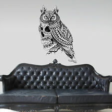 Great Horned Skull Wall Sticker Decal – Ornate Goth Art by BioWorkZ