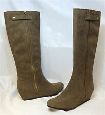 Mix NO 6 Women's Treasure Wedge Boot - Taupe Suede - Multi SZ NIB - MSRP $89