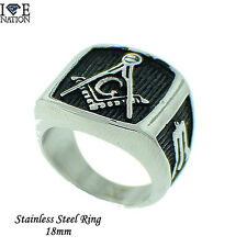 New Masonic Men's Stainless Steel Solid Mason Ring Style # 692