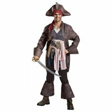 Captain Jack Sparrow Men's Deluxe Pirates Of The Caribbean Costume