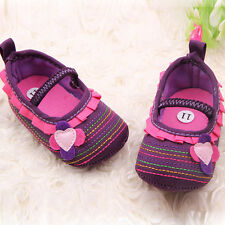 Lovely Toddler Girl Ruffle Mary Jane Baby Shoes Kid Newborn Flower Prewalker S10