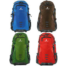 50L Hiking Backpack Travel Bag Daypack Water Proof Rucksack Blue Brown Green Red