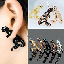 New Women Gothic Punk Rock Temptation Dinosaur Dragon Ear Wrap Cuff Clip Earring