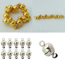 10x Silver/Gold Tone Strong Magnetic Round Ball Connector Clasps 6mm DIY Jewelry