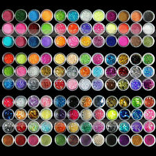 12/18/120 Colors Glitter powder Beads Nail Art decoration for Acrylic UV Gel