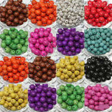 Wholesale 50Pcs Carved Gemstone Round Loose Turquoise Beads Jewelry Making 6mm