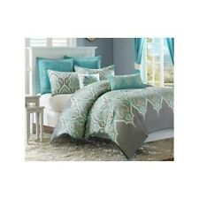 Bedroom Comforter Set Twin Full/Queen King/Cal King 5Pc 7Pc Teal Gray Paisley