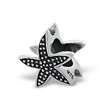 925 Sterling Silver Starfish Nautical Beach Bracelet Charm Bead Gift Boxed B208