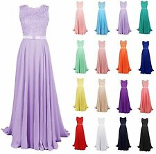 Stock Long Bridesmaid Prom Formal Dresses Cocktail Party Evening Ball Gown Dress