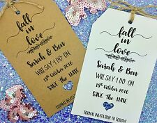 """Fall in Love"" Save The Date / Evening Card Wedding Invitation with Envelope"