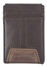 Men's Leather Magnetic Money Clip Front Pocket Wallet