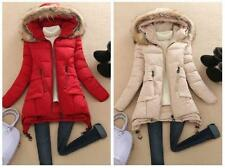2016 Winter Women Coat Down Cotton Long Hooded Fur Collar Coat Jacket Parka V13
