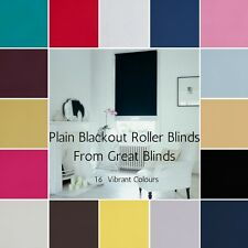 Blackout Roller Blinds Easy Fit Roller Blinds Trimmable Plain Blackout Fabric