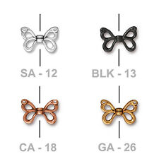 TierraCast Butterfly Wing Bead - plated pewter - jewelry nature insect garden