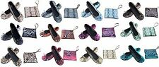 Shoes 18 Women's Foldable Snake Skin Ballet Flat Shoes w/ Matching Carrying Case