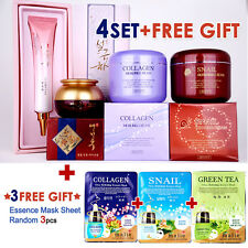 Anti-Aging Set SNAIL Cream + COLLAGEN + EYE CREAM + EYE SERUM + Mask Pack Sheets