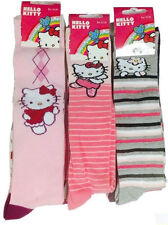 3 Pair Girls Hello Kitty Printed High Socks Assorted Design Assorted Sizes
