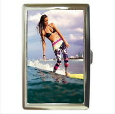 NEW Cigarette Business Card Holder Surfer Girl Sexy