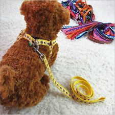 Hot Beauty Small Dogs Pets Puppy Cat Adjustable Nylon Harness with Lead leashs