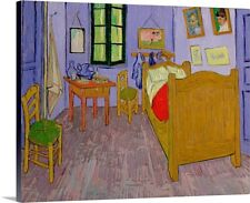 Premium Thick-Wrap Canvas Wall Art entitled Van Goghs Bedroom at Arles, 1889