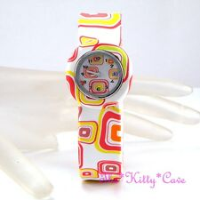 Retro Funky Eames Ossie Chic Bright Squares 60-70s Silicone Ladies Girls Watch