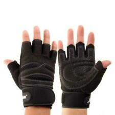 WEIGHT LIFTING PADDED GLOVES FITNESS TRAINING BODY BUILDING GYM WRIST STRAP M-XL