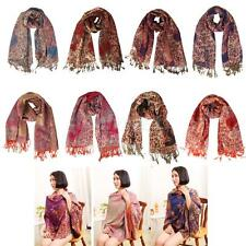 Classic Ladies Winter Cashmere Wrap Scarf Floral Shawl Soft Warm Pashmina Stole