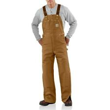 Men's Carhartt Insulated Quilt-Lined Duck Bib Overalls - R02