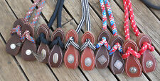 6FT HORSEMENS PERFORMANCE REINS with SLOBBER STRAPS and CONCHOS