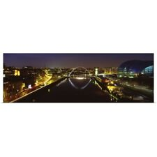 Poster Print Wall Art entitled Reflection of a bridge on water, Millennium