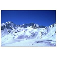 Poster Print Wall Art entitled snowy mountains