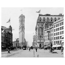 Poster Print Wall Art entitled Vintage photograph of Times Square, New York City