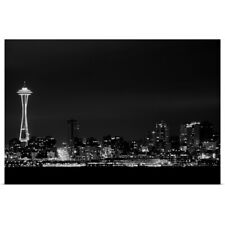 Poster Print Wall Art entitled Looking from West Seattle across Elliott Bay to