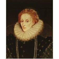 Poster Print Wall Art entitled Portrait of Queen Elizabeth I (1533-1603) (oil on