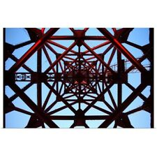Poster Print Wall Art entitled Inside tower of crane.