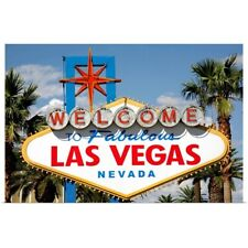 Poster Print Wall Art entitled Welcome to Fabulous Las Vegas Nevada Sign
