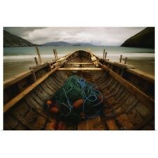 Poster Print Wall Art entitled Traditional Currach, Achill Island, County Mayo,
