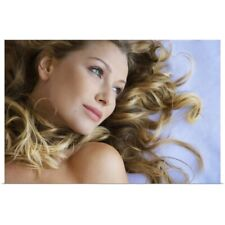 Poster Print Wall Art entitled Naturally Blonde Young Woman Smiling