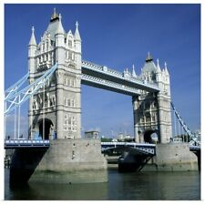 Poster Print Wall Art entitled Tower Bridge and Thames River, London, England