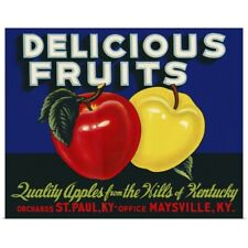 Poster Print Wall Art entitled Delicious Fruits