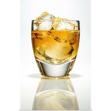 Poster Print Wall Art entitled Whiskey in glass