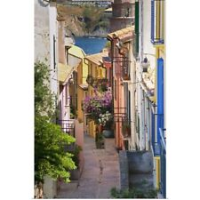 Poster Print entitled A Narrow Street In The Old Town, Collioure, Roussillon, F
