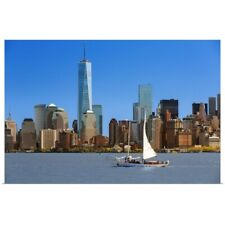 Poster Print Wall Art entitled Skyline of New York with one World Trade Center