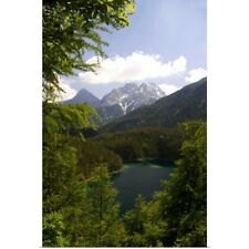 Poster Print Wall Art entitled Alpine lake in the Austrian Alps, Austria