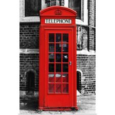 Poster Print Wall Art entitled Red Phone Booth in London