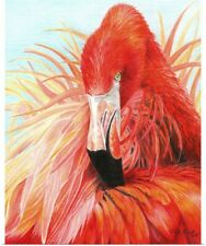 Poster Print Wall Art entitled Red Flamingo