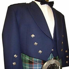 PRINCE CHARLIE SCOTTISH TRADITIONAL JACKET MEN HANDMADE KILT TARTAN UTILITY