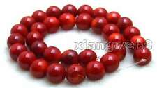 "SALE Big Round 13-14mm High quality Red natural Coral loose beads strand 15""-640"