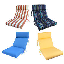 "Sunbrella Indoor/Outdoor High Back Seat Chair 3-section Cushion 22""x44""x4"" New"